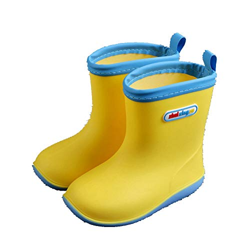 Candy Color Rain Boots for Kids.Soft Durable PVC Rain Shoes.Waterproof Non-Slip Wellies Wellington for Children, Boys & Girls (6/7/8/9/10/11/13 UK Child)