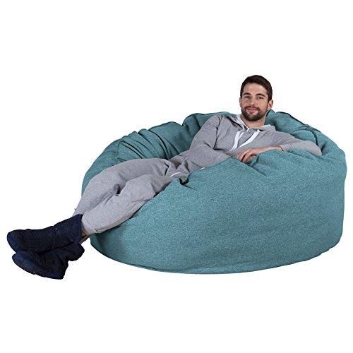 Lounge Pug® - CLOUDSAC - Interalli - Huge Memory Foam GIANT Bean Bag SOFA -  1000 Litre - Beanbag UK - AQUA BLUE