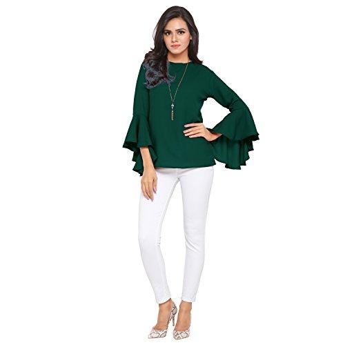 Serein Women's Body Blouse Top (Ser-I-7_Green_Medium)