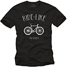 Ride It Like You Stole It - Camiseta bicicleta hombre con mensaje divertida