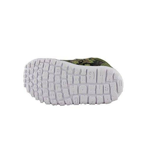 Reebok JB Kaa Ventureflex Lead, Baskets Basses Unisexe-Bébé Multicolore - Verde / Beige / Amarillo (Warm Olive/Stone/Luminous Lime/Yellw/Dri)