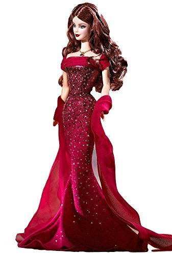 Birthstone Collection July Ruby Barbie doll -