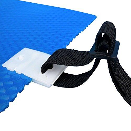 Linxor ® Set mit 8 Schlaufenbändern, mit Krokodilklemmen für jede Art von Solarabdeckplane Aufroller – EG-Norm