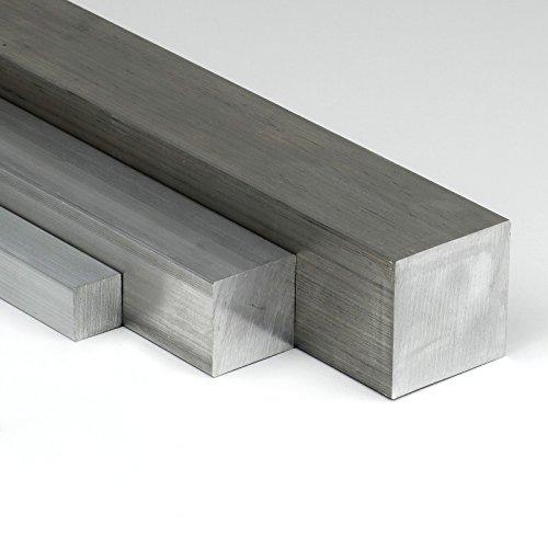 Aluminium Vierkant AW-2007 - 25x25mm - Länge 1000mm - Alu Vierkantstab AlCuMgPb - Aluminium Vierkantmaterial auf Zuschnitt