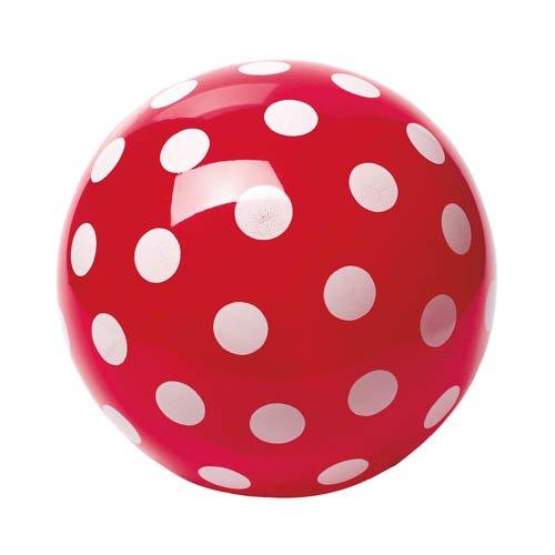 Großer Pünktchenball, Ø 23 cm - Punktball rot Spielball