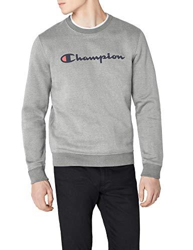 Champion Classic Logo Sweatshirt pour Homme Sweat-Shirt, Gris (Oxgm), Medium (Taille Fabricant: M)