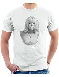 Courtney Love Black And White Portrait 1991 White Men's T-Shirt
