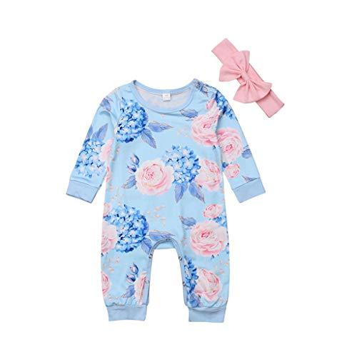Baby Strampler Frühchen,Covermason Neugeborenes Säuglingsbaby Junge Mädchen Spielanzug Strampler Mit Kapuze Bunt Gestreift Overall Jumpsuit Kleider (6-12M, Blau) (Mädchen 16 Blaue 7 Kleider)