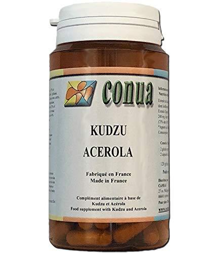 Kudzu, Acerola Vitamin C 120 Kapseln Belastungs Alkohol Tabak  FLASCHE FÜR 2 MONATE 60 Tage  Conua...