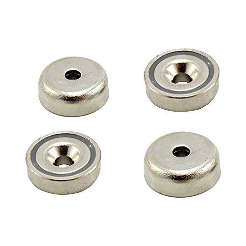 Magnet Expert® 20mm diamètre x 7mm x 4mm fraiser N42 néodyme serrage aimant, 13,2kg force d'adhérence, pack de 4