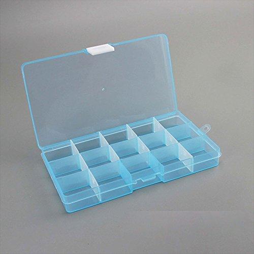 Klar Lagerbehälter (TOPmountain Schmuckkästchen Lagerung transparent Box Frauen Mädchen Ornamente Organizer Container 15-Sektionen Kunststoffe)