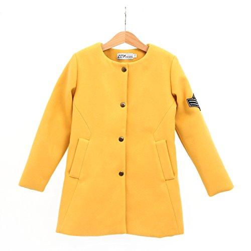 ZEAkids Frühling - Mantel Jacke für Mädchen in Military Style, senf-gelb 128