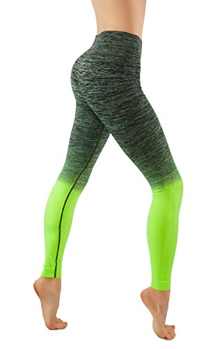Fit Division Yoga Power Flex Dry-Fit Pants Workout Printed Leggings Ombre...