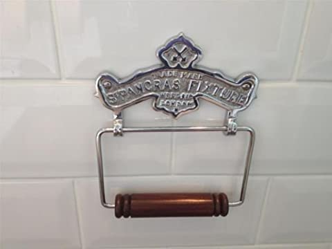 Vintage Antique style St Pancras Chrome Finish solid brass Toilet Roll Holder wall mounted Loo Paper dispenser