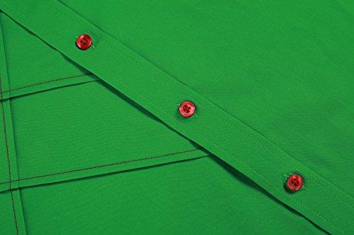 Coofandy Chemise Homme Manche Longue Coton de Marque Col Italien Casual Décontracté Taille S-XXXL Vert