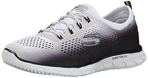 Skechers Glider - Fearless, Damen Sneakers, Schwarz (bkw), 39 EU