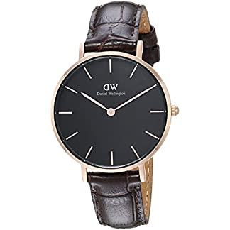 Daniel Wellington Reloj Analógico para Mujer de Cuarzo con Correa en Cuero DW00100170