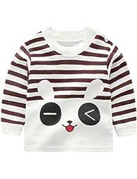 660ab83dd Mitlfuny Primavera Verano Ropa Blusas de Manga Larga para Bebé Recién Nacido  Camisetas Oso Pato Conejo