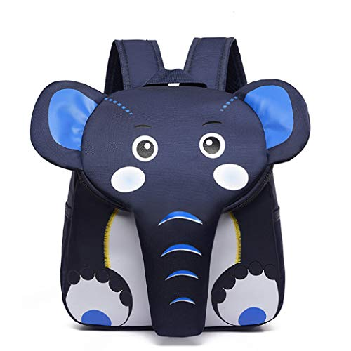VIccoo Mochila de Elefante Mochila para Mochila de Elefante de Dibujos Animados para niños pequeños - Azul Profundo