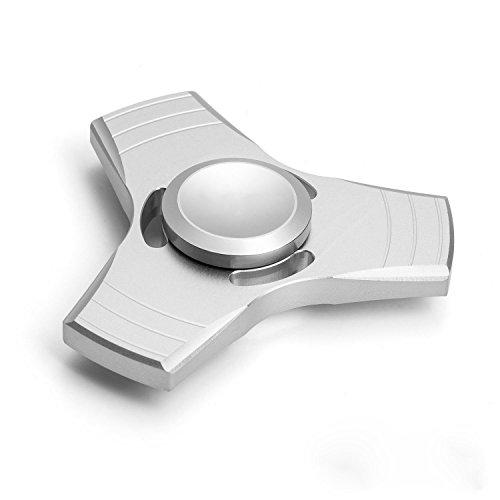 Missley Fidget Spinner Hoher Geschwindigkeit Handspielzeug Hand Spinner Special Finger Spinner Dekomprimierung Stress und Angst Relief (Silber-25)
