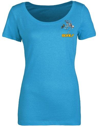 powell-peralta Frau Skaten Skelett Schnitt Scoop T-Shirt türkis