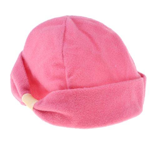 D DOLITY,Mini hübsche Puppen Plüsch Mütze Winterhut Für 18 Zoll Puppe Kleidung Zubehör - Rosa