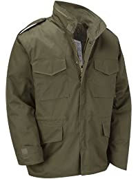 M65 Military Field Jacket With Removable Quilted Inner Liner - Olive