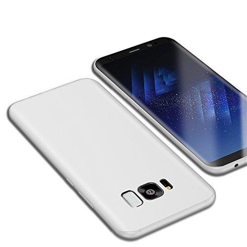 Preisvergleich Produktbild Galaxy S8 Schutzhülle, CAFELE Ultraslim Case TPU Micro Scrub Hülle für SAMSUNG S8 (Weiß)