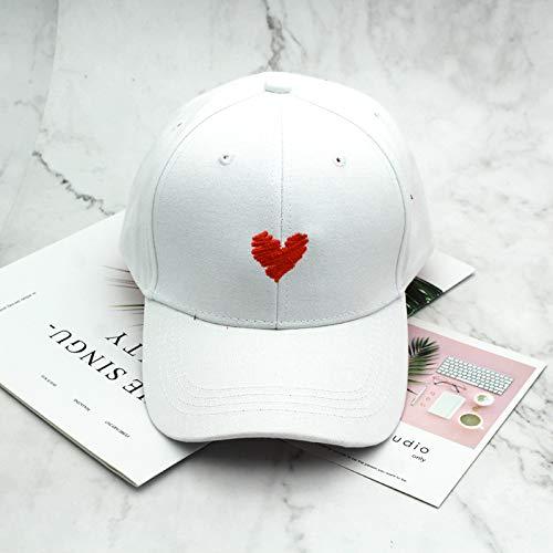 zhuzhuwen Hut weibliche koreanische Version der Wilden niedlichen kreativen Liebe Stickerei Baseball Cap Outdoor Casual Cap männlich 2 einstellbar