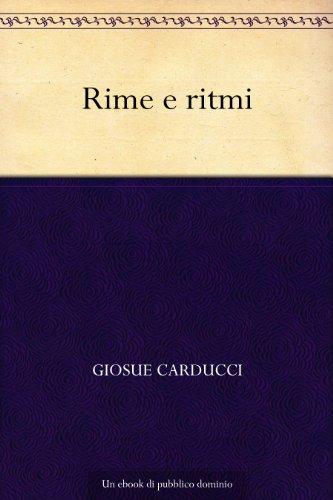 Rime e ritmi (Italian Edition)