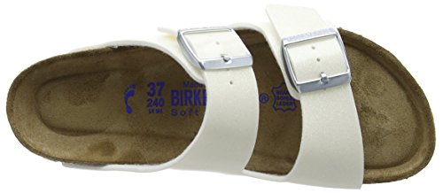 Birkenstock Arizona, Sandales femme Blanc (Magic Galaxy White)