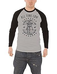 All Time Low band logo Emblem nouveau officiel Homme Gris T-shirt de basebal