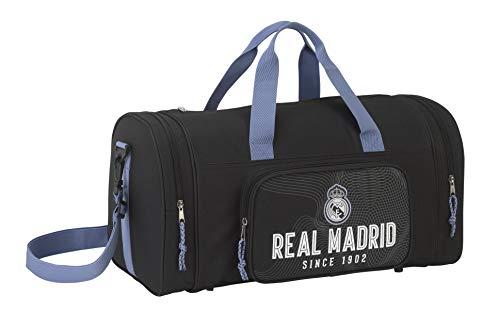Real Madrid CF, Bolsa de Deporte Bolsa de Viaje, 50x 25x 25cm, Niños, Schwarz (757)