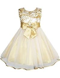 Mädchen Kleid Champagner Multi-schichten Hochzeit Festzug