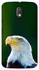 Crazy Beta EAGLE DESIGNPrinted Back Cover For Motorola Moto E3 Power