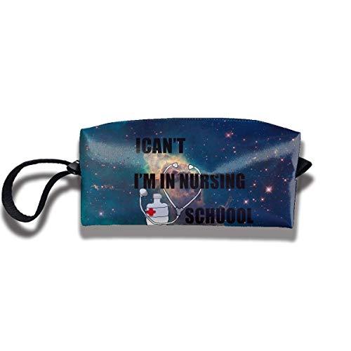 Pencil Bag Make-up Tasche Ich kann Nicht ich Bin in der Krankenschwester der Krankenpflegeschule L Waschbare Tolietry Taschen Frauen Kosmetiktasche Multifuncition Zipper