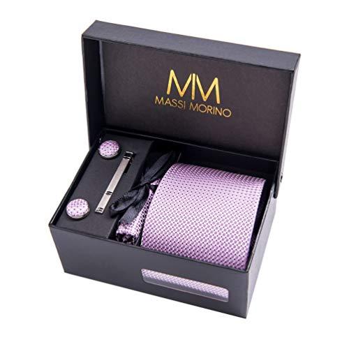 Massi Morino ® Hombre Designer corbata - caja conjunto