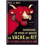 Éditions Clouet 29002 Tableau d'Affichage Vache Qui Rit Rabier CP Métal 15 x 21 cm