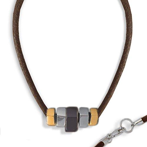 collier-pour-homme-en-cuir-avec-elements-en-forme-de-boulon-en-argent-argent-rhodie-et-brun-dore-jau