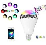 WIVION LED Smart Bluetooth Haut-Parleur E27 Ampoule Lampe Maison Ampoule Creative Ampoule lumière Smart LED Clignotant sans Fil Haut-Parleur Ampoule
