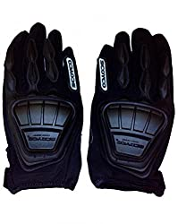 Scoyco Mc08 Composite Fabric/Plastic Motorcycle Riding Full Finger Gloves for Biking and Racing (Black, X-Large)