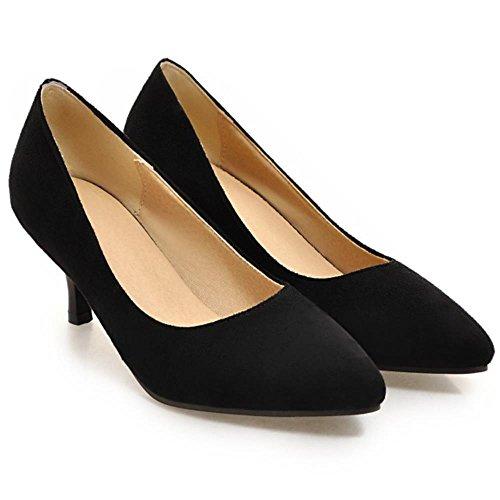 COOLCEPT Damen Mode Kitten Heels Pumps Pointed Toe Small Size