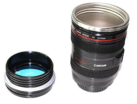 Haoyishang Fc-3340,2gram en acier inoxydable Thermos de voyage Camera Lens Tasse à café (Noir) noir