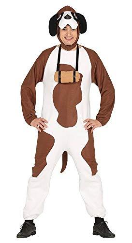 r Herren-Kostüm Hund witzig JGA Junggesellenabschied Karneval Overall Fleece ()