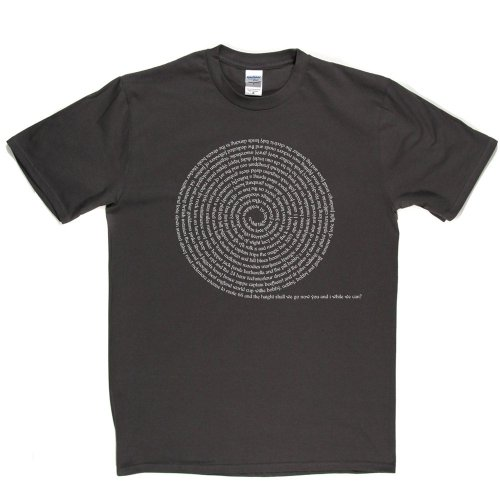 Sixties Spiral Rock Music Tee T-shirt Grau