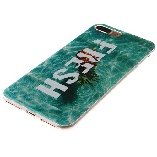 Meet de Sea ancre pour Apple iphone 7 Plus Soft TPU, Apple iphone 7 Plus Protection Etui Souple Flexible Coque TPU Silicone Soft Case, (Riche et coloré Designs) Housse / Case pour Apple iphone 7 Plus, ananas