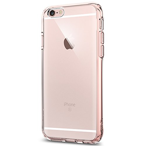 Coque iPhone 6s, Spigen® Coque iPhone 6 / 6s [Ultra Hybrid] Coussin d'air [Rose Crystal] Housse Etui Coque iPhone 6 / 6s - Rose Crystal (SGP11722)
