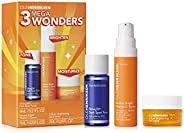 Ole Henriksen 3 Mega Wonders Mini Set-8 mL Glow2Oh Dark Spot Toner,7 mL C-Rush Brightening Gel Creme, 7 mL Ban