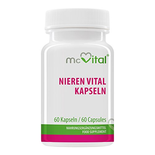 Nieren Vital Kapseln - Durchspülung - Wirkt Harntreibend - Entschlackt Nieren - 60 Kapseln