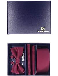 Ensemble cravate complet et assorti 5 pièces   Cravate fine 6cm, Nœud  papillon, Pochette 5393abd6d55